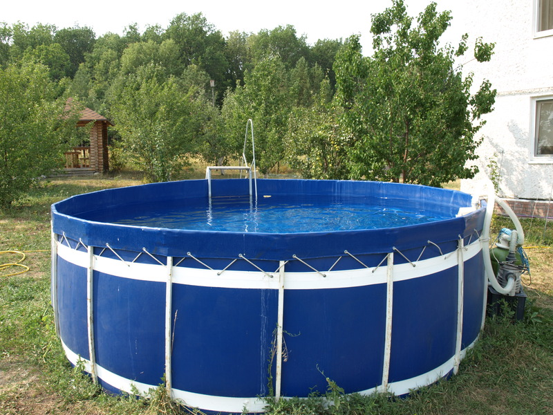 Каркасный бассейн на даче своими руками