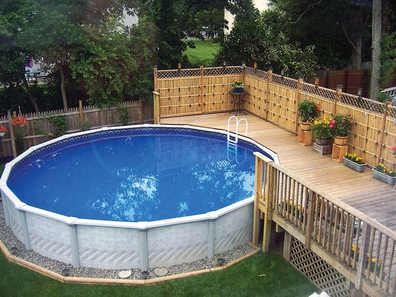 Каркасный бассейн может спокойно выдержать замерзание в нём остатков воды