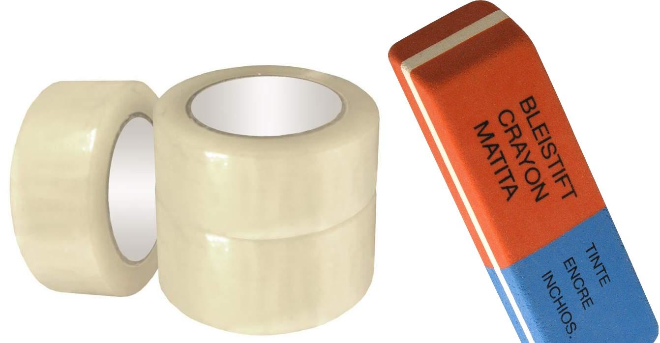 Кожаную обивку мягкой мебели можно очистить от пятен, используя канцелярский ластик и обычный скотч