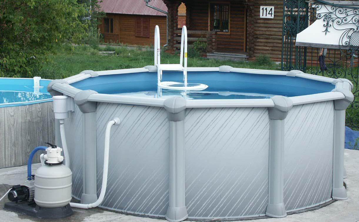 Каркасный бассейн быстро разбирается и собирается
