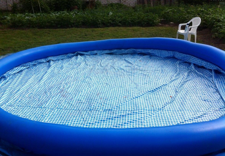 Надувной бассейн монтируется и убирается в течение получаса