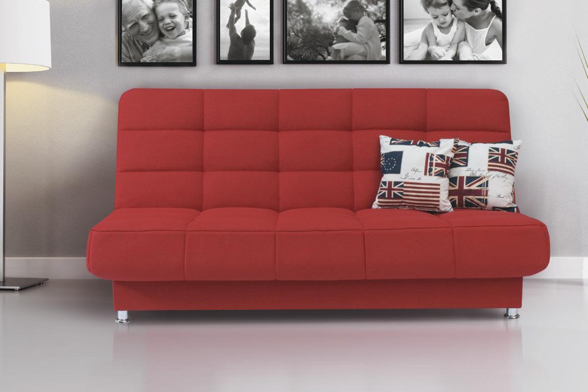 Мягкую мебель для маленькой гостиной лучше выбирать без подлокотников