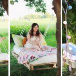 Фото 25: Подвесная кровать из паллет