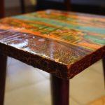 Фото 39: Роспись табурета с эффектом кракле