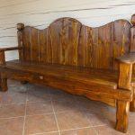 Фото 30: Скамейка из массива дерева
