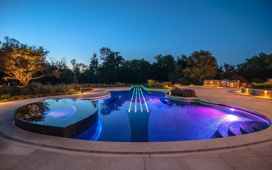 Oсвещение бассейна