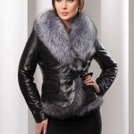 Фото 31: Кожаная куртка с мехом