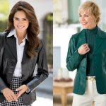 Фото 48: Женские кожаные пиджаки