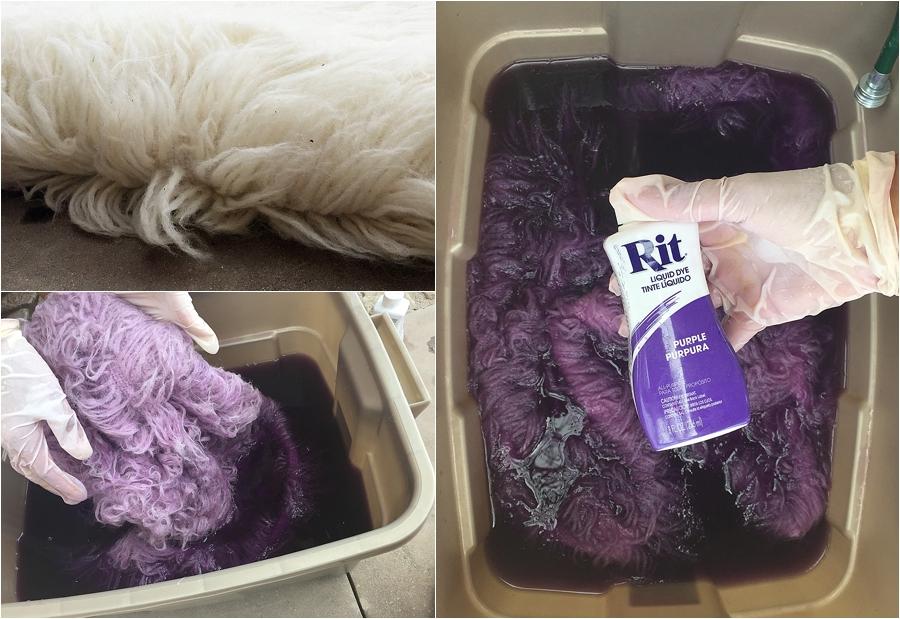 Процесс окрашивания искусственного меха краской для ткани