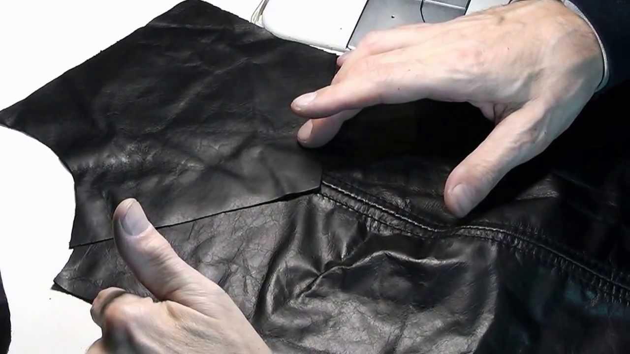 Пошив изделия из кожи