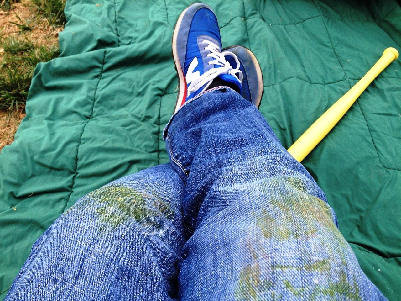 Трава на одежде