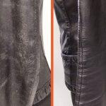 Фото 17: Восстановление потертости на кожаной куртке