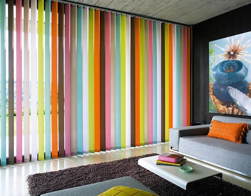 Разноцветные вертикальные жалюзи