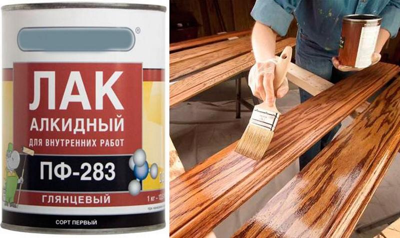 Алкидный лак для покраски древесины