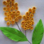 Фото 74: Сделать цветы мимозы в технике квиллинг