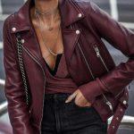 Фото 39: Бордовая кожаная куртка