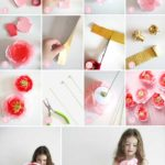 Фото 109: Как сделать большие цветы из конфет своими руками из гофробумаги