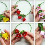 Фото 16: Сделать браслетик с цветами из полимерной глины