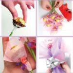 Фото 108: Как сделать букет из конфет своими руками