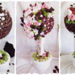 Фото 35: Идеи цветочно-кофейных топиариев