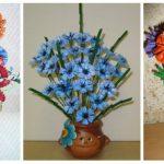 Фото 58: Цветочные композиции из макарон в подарок