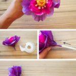 Фото 107: Цветок с конфетой в подарок своими руками