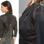 Фото 24: Декор кожаной куртки цепочкой