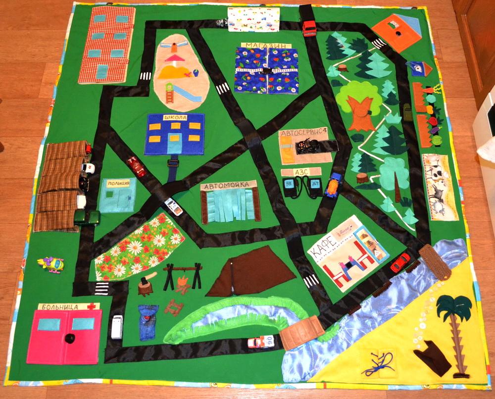 Детский коврик с дорогами для малыша