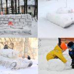 Фото 46: Лепить фигуры из снега на День Защитника Отечества 23 февраля своими руками