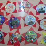 Фото 73: Открытки–звезды из старых дисков