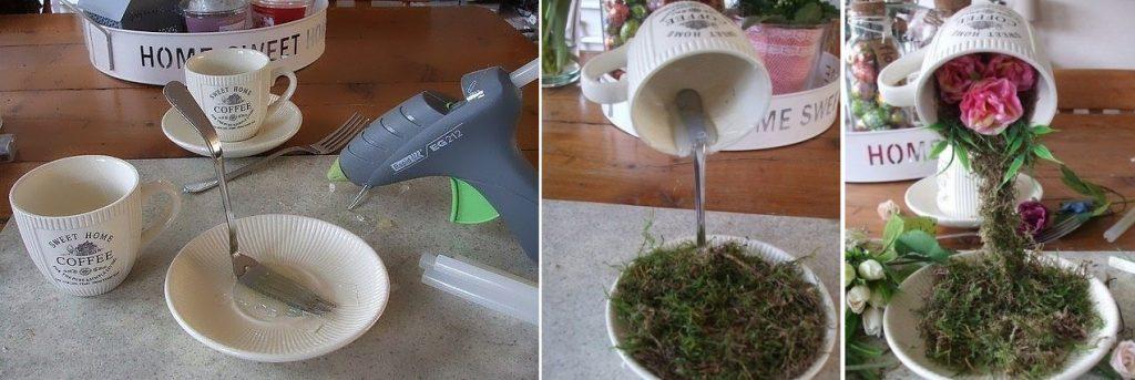Как сделать топиарий из чашек своими руками поэтапно