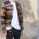 Фото 19: Кожаная куртка из ремней
