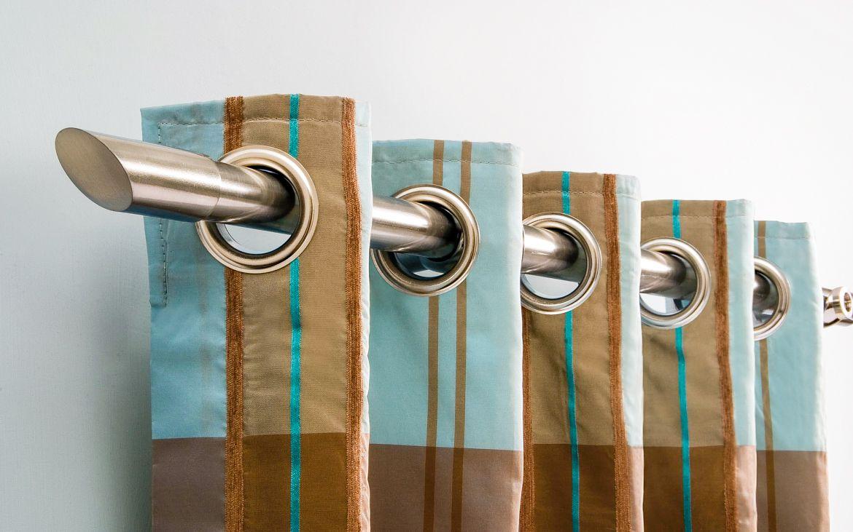 Настенные металлические карнизы для штор