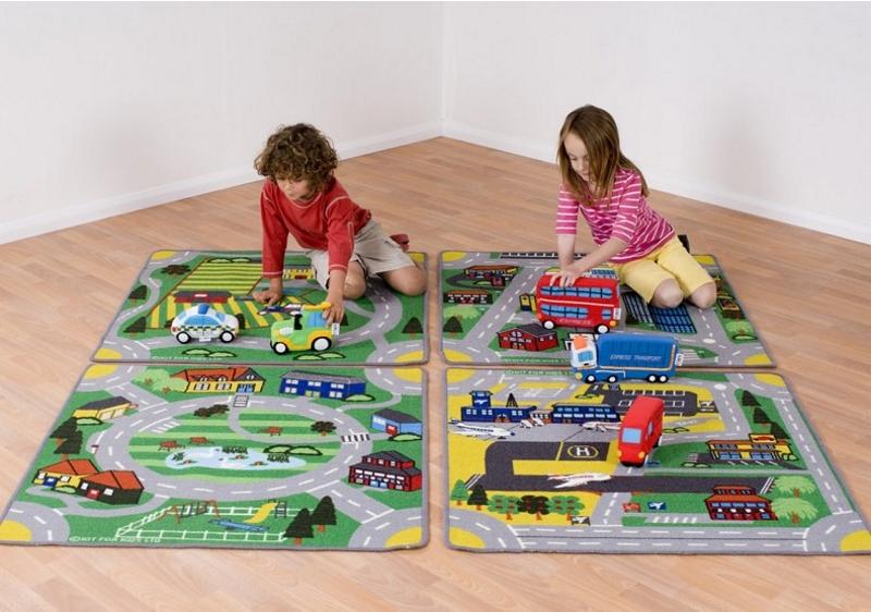 Детский ковер с дорогами для мальчиков и девочек