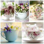 Фото 61: Цветочные композиции в чашках своими руками на 8 марта