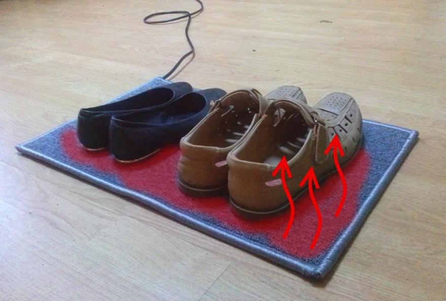 Электрический коврик для сушки обуви