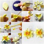 Фото 20: Сделать нарциссы из полимерной глины своими руками