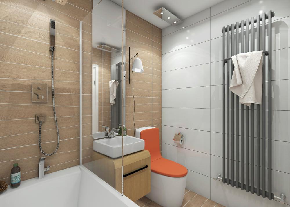 Ванная комната в квартире студии