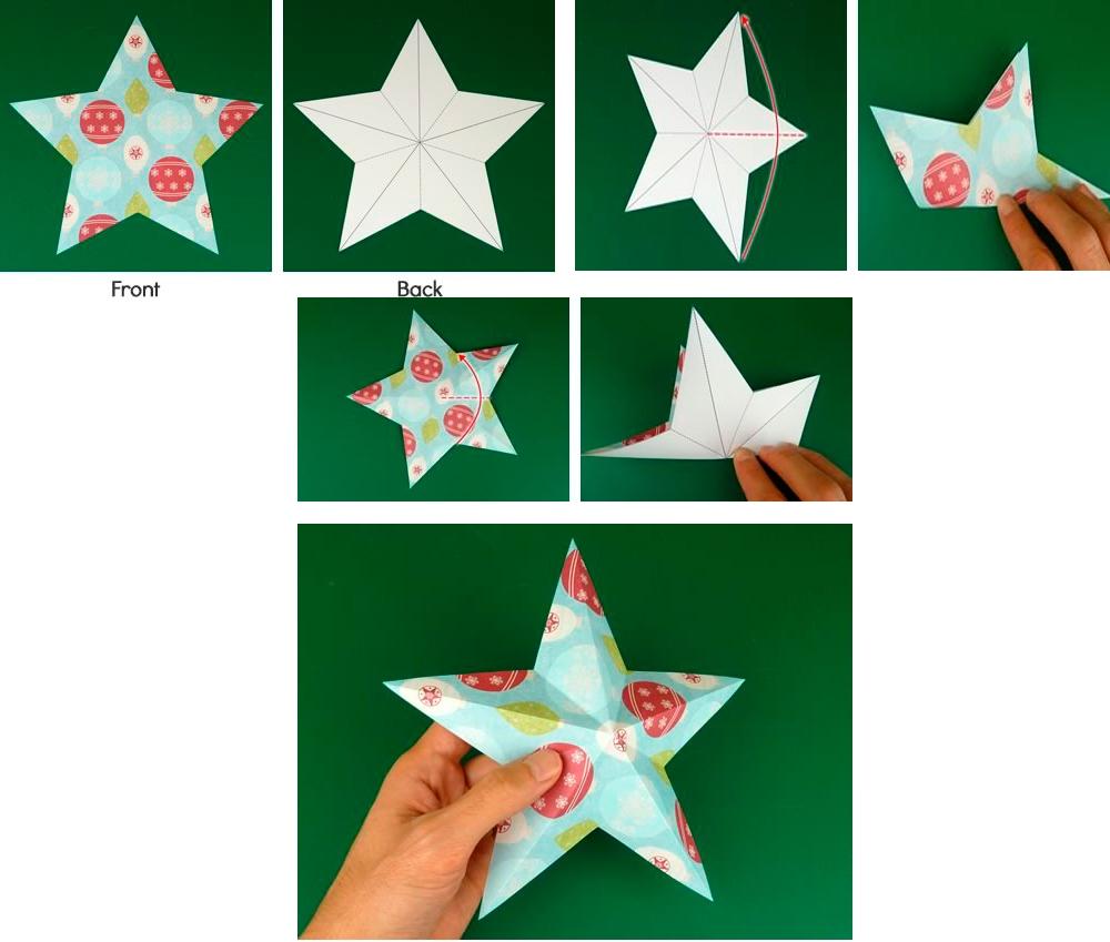 Как изготовить объемную звездочку просто