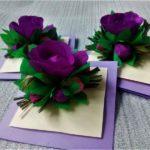 Фото 88: Объемная открытка с цветами из гофрированной бумаги
