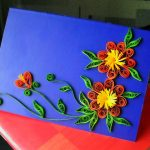 Фото 65: Открытка в технике квиллинг с цветами своими руками