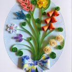 Фото 100: Открытка квиллинг с аппликацией из цветов своими руками