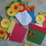 Фото 35: Открытки в виде горшков с цветами на 8 марта