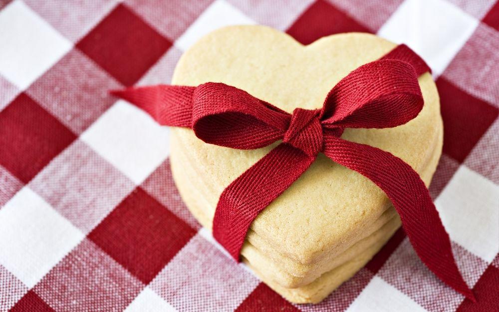 Печенье в форме милых сердечек