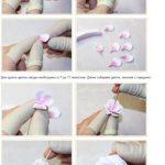 Фото 21: Как сделать цветок из полимерной глины