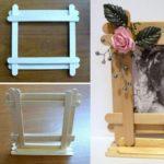 Фото 130: Как сделать рамку из палочек от мороженного