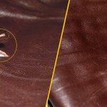 Фото 17: Ремонт дырки коричневой кожаной куртки