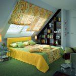 Фото 28: Римксие шторы для спальни на мансарде