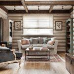 Фото 33: Римские шторы в деревянном доме
