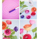 Фото 90: Сделать розы из бумаги по спирали своими рукуми